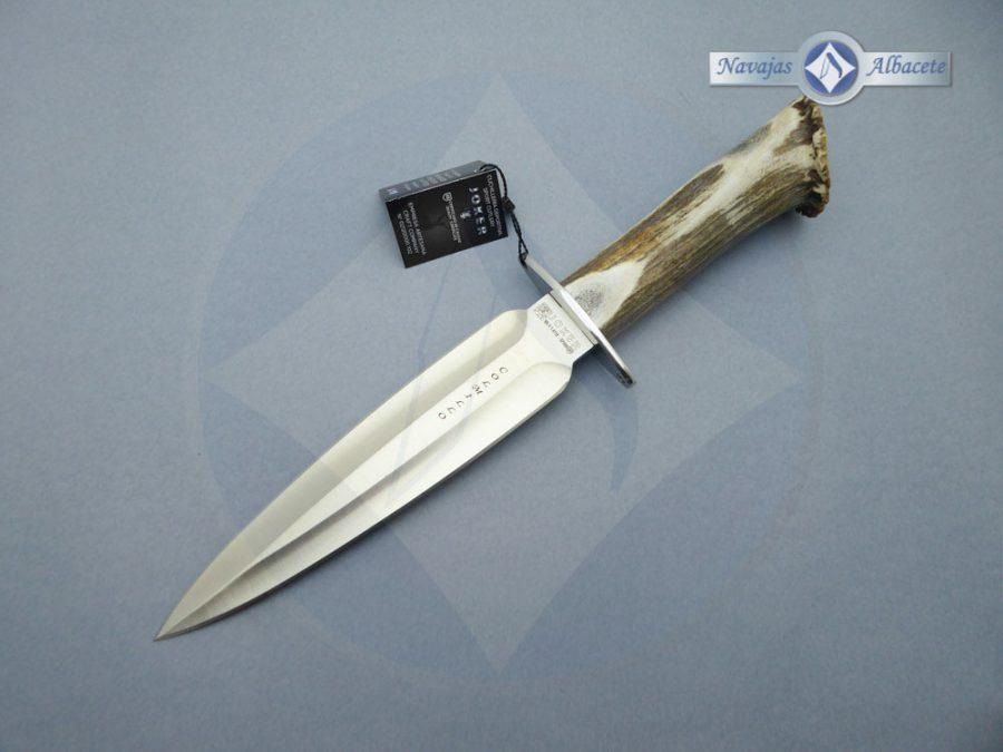 Cuchillo artesanal de caza Joker colmillo